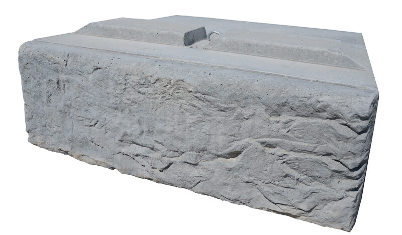 Limestone retaining wall block